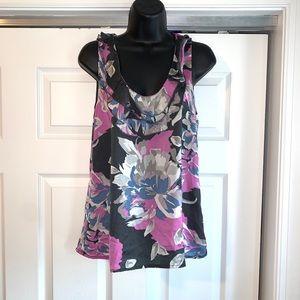 ANN TAYLOR Ruffle sleeveless Blouse 6P